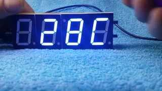 Sku142210  Diy 4 Digit Led Electronic Clock Kit Large Screen Red Blue Green Led Modified