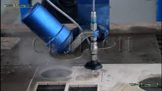 5 axis water jet cutter cutting machine for metals stone