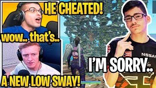 Everyone *SHOCKED* FaZe SWAY *TEAMING* & *CHEATING* in Fortnite SOLO CASH CUP! (BANNED)