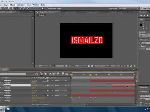 After effects cs4 Tutorial | Flying text  | Text series (basic)