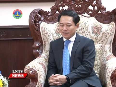 Lao NEWS on LNTV: Minister of Foreign Affairs Saleumxay Kommasith receives foreign guests.23/6/2016