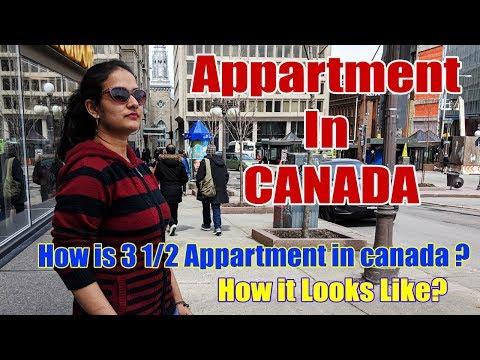 Apartment Tour Canada | How Basic Apartment Looks Like In Canada With Rent | My Apartment In CANADA