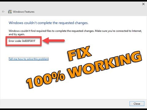 How to Fix Error Code 0x800F081F When Installing  NET