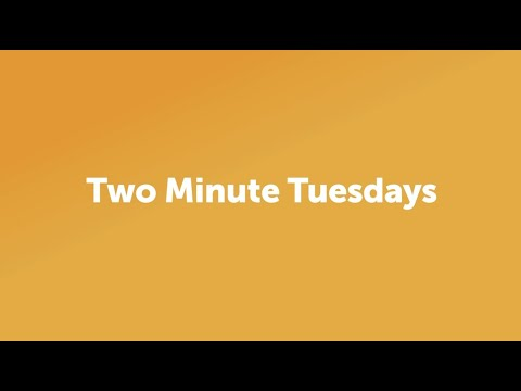 Two Minute Tuesdays - Facial Recognition with Andrew Robinson