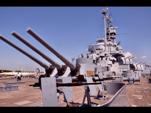 USS Alabama - WW2 Battleship Travel Video