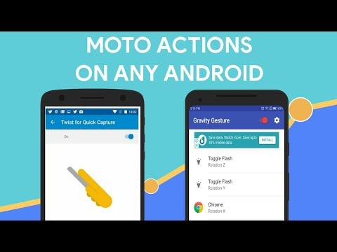 Get Moto Actions/Gestures on Any Android Phone Eg  Double