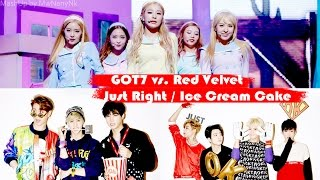 Red Velvet 레드벨벳 vs. GOT7 갓세븐 - Just Right 딱 좋아 / Ice Cream Cake (MashUp)