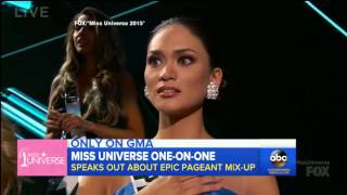 Pia Wurtzbach First Official TV Interview as Miss Universe 2015 at GMA
