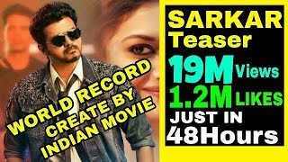 Sarkar teaser Creat world Record to get 19 Million VIEWS AND 1.2 MILLION LIKES LESS THEN 48 H
