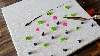 Must Watch / Lily Pond / Abstract Painting Demonstration / Satisfying / Project 365 days / Day #0358