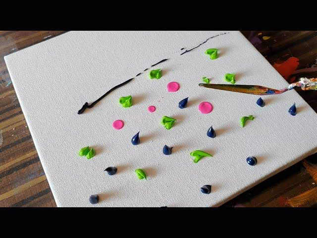 Must Watch Lily Pond Abstract Painting Demonstration Satisfying Project 365 Days Day 0358