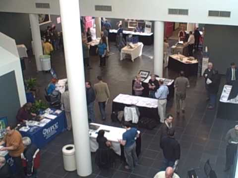 The show floor at the Henry Ford Community College Alternative Energy Summit