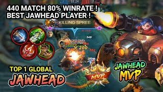 BEST JAWHEAD GAMEPLAY 80% WINRATE | Top 1 Global Jawhead ALca x Panther. Gameplay Mobile Legends
