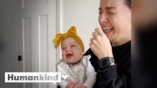 Enjoy every second of this baby giggling | Humankind