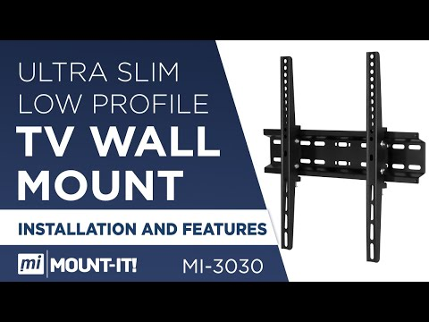 TV Wall Mount Bracket, Low Profile, Universal, Tilting   Installation And Features (MI-3030)