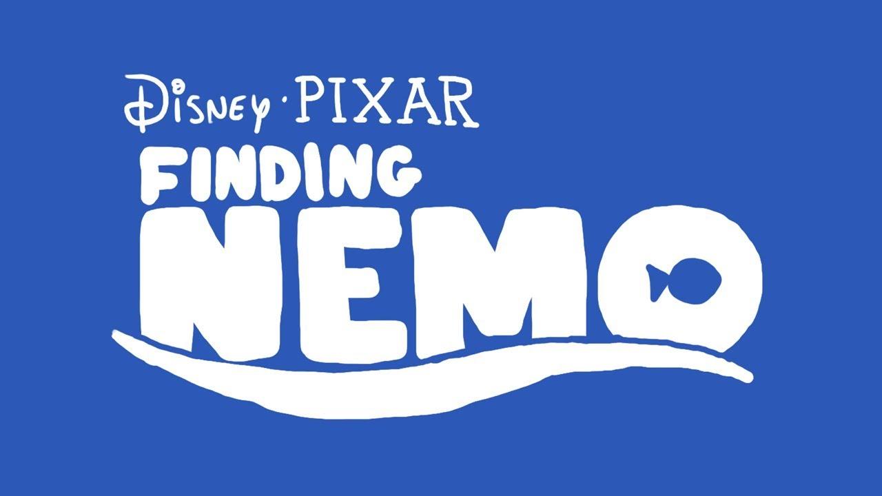 how to draw FINDING NEMO logo bumper from DISNEY PIXAR ...