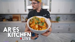 Aries Kitchen Live | Thai Cucumber Salad & Coconut Lime Shrimp