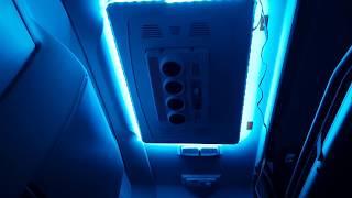 Nowe oświetlenie Led w kabinie DAFa :)