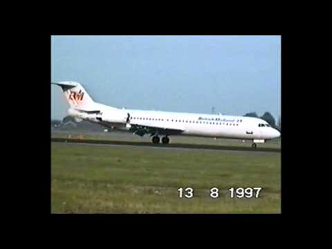 British Midland Airways - Fokker 100 - After landing at AMS (CLASSIC)