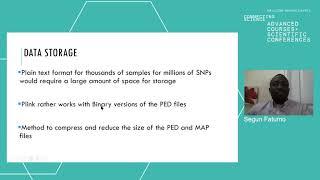05 Intro to datasets formats data manipulation and PLINK   Segun Fatumo