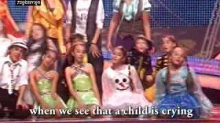 HAND in HAND with lyrics - Unicef song JESC 2008 by Cacoyannis &  Kouzalis