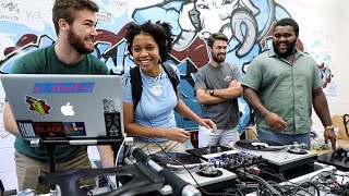 Students learn about the art and culture of the DJ
