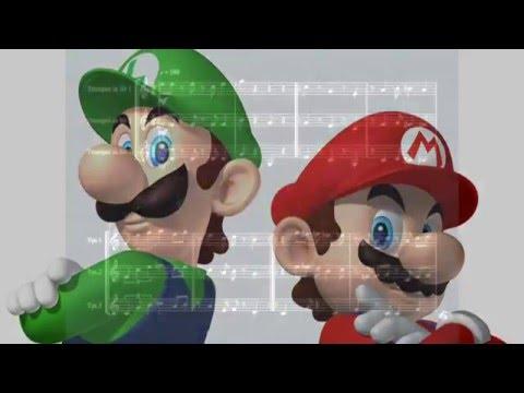 Super Mario Bros Overworld for tumpet trio by V.Valerio & P.Trettel