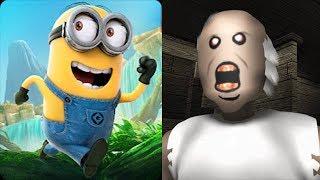 Despicable Me Minion Rush vs Granny Roblox Horror Escape Game