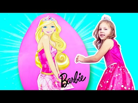 BARBIE GIANT EGG 🎀 Surprise Toys, Barbie Goes Camping, Camper, Barbie Fairy,  Princess Dream