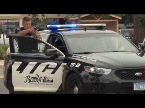 Raw Footage- Police Apprehend Car Theft Suspects In Downtown Bemidji