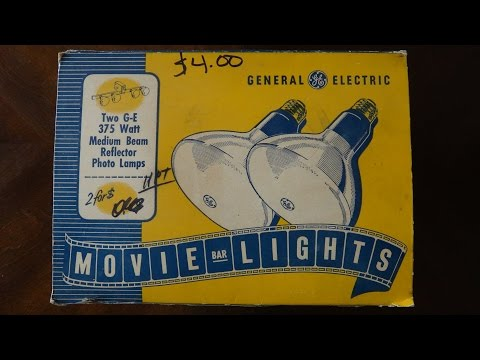 Old GE Movie Bar Flood Light Bulbs