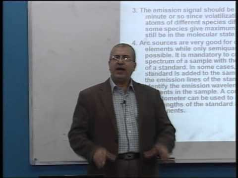 Lecture 21: Atomic Emission Spectroscopy (4)