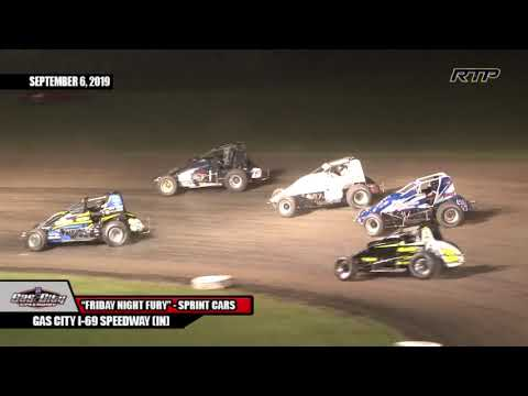 "2019 Gas City I-69 Speedway - ""Friday Night Fury"" - Sprint Cars - (HIGHLIGHTS)"