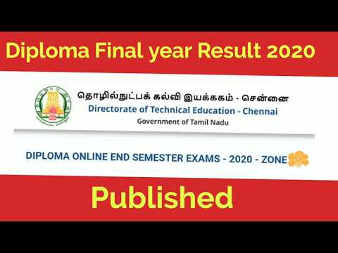 Diploma Final year Result 2020 | Diploma Final Semester Result 2020