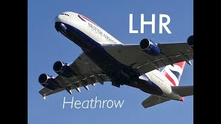 Plane Spotting * Morning Take-Offs Compilation 1 * RW27R London Heathrow Airport, LHR