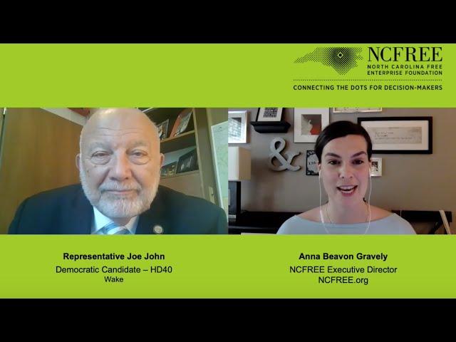 NCFREE Candidate Interview - Representative Joe John, HD-40