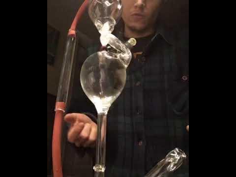 Infinite vortex gravity bong prototype premium glass