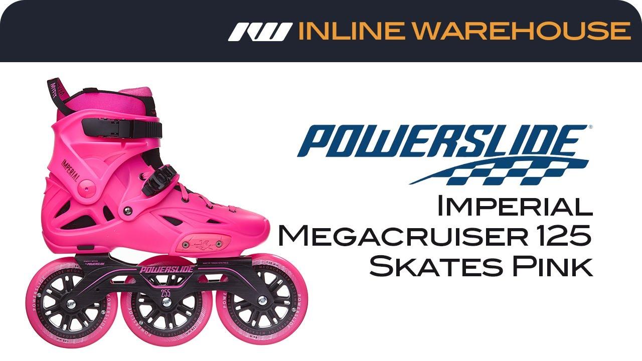 9f6e33fddc7 2017 Powerslide Imperial Megacruiser 125 Skates Pink Review - YouTube