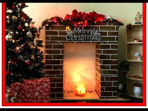 Diy Fake Christmas Fireplace In 10 Minutes