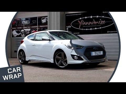 Hyundai Veloster Turbo wrapped Matte Metallic Charcoal