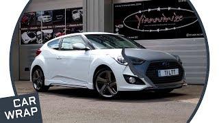 Hyundai Veloster Turbo wrapped Matte Metallic Charcoal смотреть