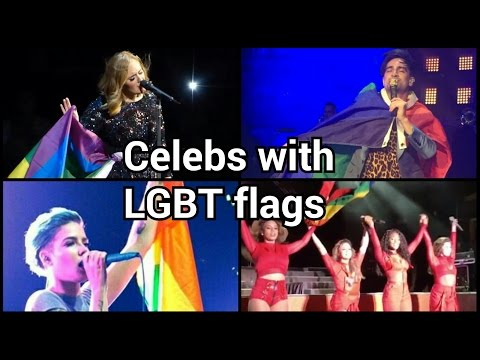 Celebrities With PRIDE FLAGS On Stage