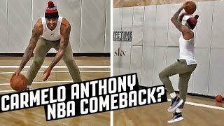 Carmelo Anthony WORKOUT! NBA Comeback?
