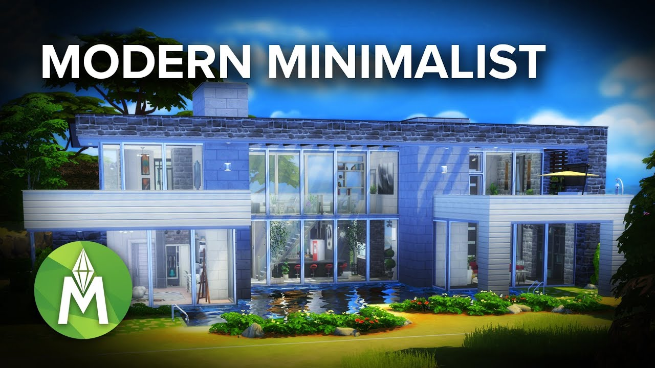 The Sims 4 House Building Modern Minimalist Youtube