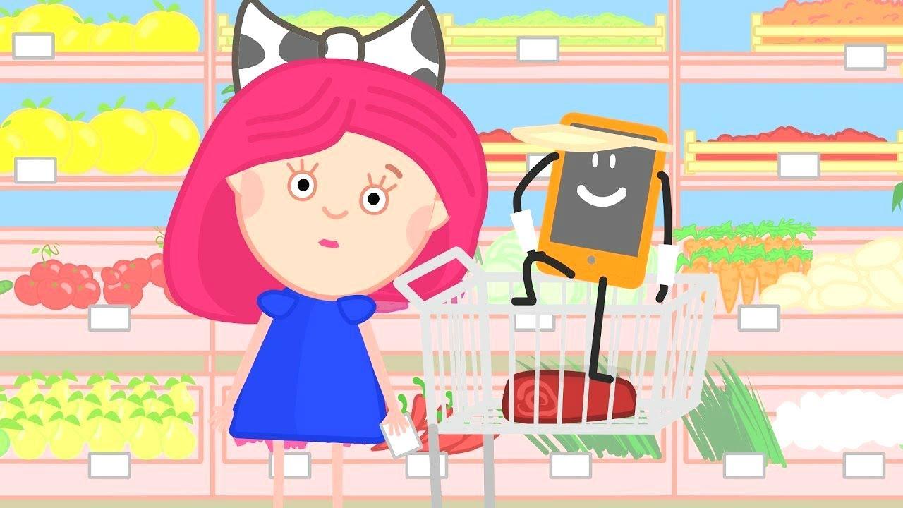 Мультфильм Смарта и чудо-сумка: Покупки в магазине. Мультики для девочек