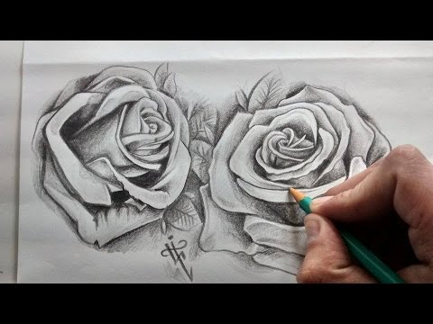 Diseño Tatuaje Rosas Realistas Realistic Roses Tattoo Design