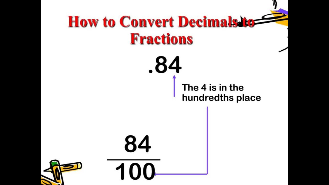 Worksheet Decimals For 4th Grade decimals to fractions 4th grade youtube grade