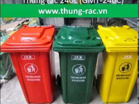 Bán thùng rác có bánh xe 80l, 100l, 120l, 240l nhiều màu sắc