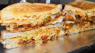 टेस्टी एंड पोष्टिक चिकन मेयो चीज़ सैंडविच | Chicken Cheese Mayo Sandwich recipe|  Chicken Sandwich