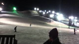 Gabe ski's down the mountain lightning fast at Afton Alps EPIC